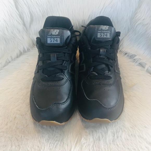 boys black new balance trainers